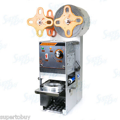 Semi Automatic Electric Sealing Machine Cup Sealer Boba Bubble Tea Coffee