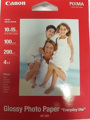 Canon Glossy Photo Paper 100 pages/sheets 210gsm 10x15 6x4 GP-501 GP501
