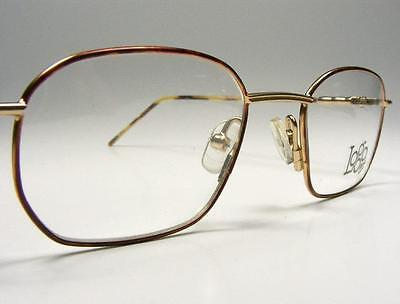 d2754d7108a1 Gold Tortoise Rectangle Retro Classic Vintage Eyeglass Frame France 90 s  NOS 47