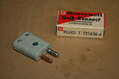 Type T thermocouple connector, 721656-4 Quik-Konnect Honeywell LOT OF 10