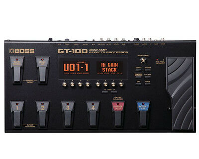 Boss GT-100 Amp Effects Processor Electric Guitar Effects Pedal