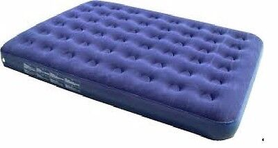 Yellowstone Double Flocked Mattress Blue Air Bed Camping Inflatable