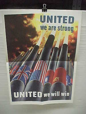 "OWI 64 - ""United we are strong!""- nr mint orig WW2 poster [Henry Koerner, artist"
