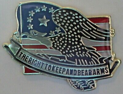 Motorcycle Pin Biker Enthusiast Right To Bear Arms Constituional 2nd Amendment