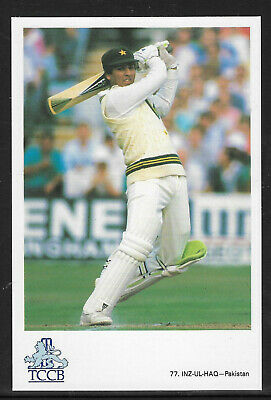 Inz-Ul-Haq Pakistan Official Tccb Cricket Postcard