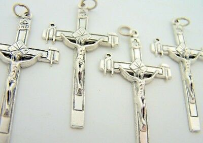 Tools Of The Cross Religious Cross Crucifix Silver Gild Rosary Parts LOT 4