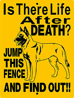 Belgian Malinois Dog Sign, Aluminum Sign Warning Vinyl Graphics Applied 2698A