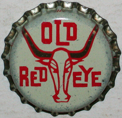 Rare soda pop bottle cap OLD RED EYE steer pictured cork lined new old stock