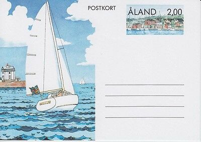 Aland 1990 - Vela - Cartolina Postale - M. 2 - Unused