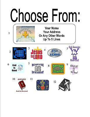30 Christian / Jesus Is Lord Personalized Address Labels