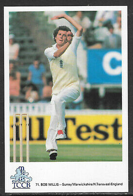 Bob Willis (England) Official Tccb Postcard