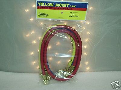 "YELLOW JACKET Charging Hose Set  60"" Yellow, Blue & Red"