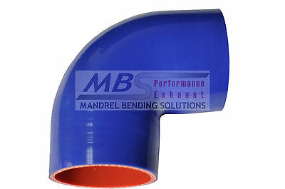 """SILICONE ELBOW REDUCER COUPLER 4/"""" /> 3.5/"""" BLACK 5 PLY 45 DEGREE HOSE INTAKE MBS"""