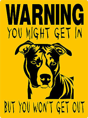 Pit Bull, Pitbull Dog Sign,pitbull Decal, Aluminum Sign Vinyl Graphics  Cw4