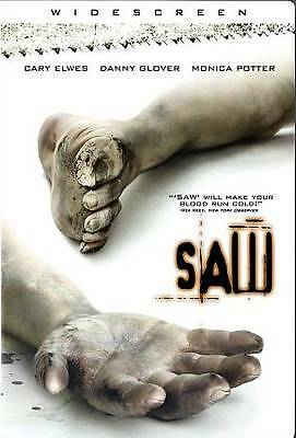 Saw (DVD, 2005, Widescreen) NO CASE NO ART EXCELLENT CONDITION SHIPS FAST