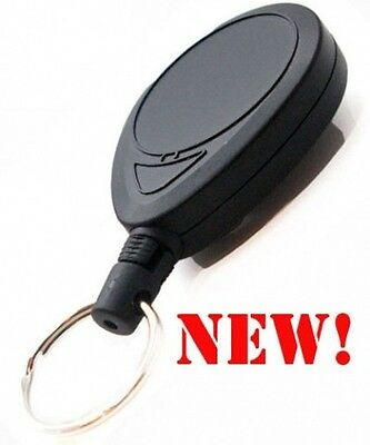 1 Heavy Duty Retractable Key Chain Locks When Closed
