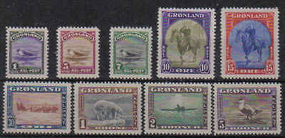 STAMPS  GREENLAND 1945  SG 8-16    BIRDS    (MLH)  lot 93