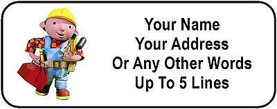 30 Bob the Builder Personalized Address Labels