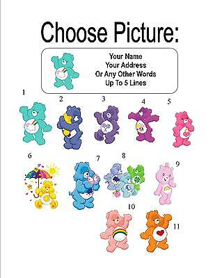 30 Care Bears Personalized Address Labels
