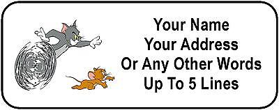 30 Tom and Jerry Personalized Address Labels