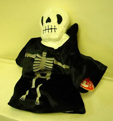 #3047 NWT RETIRED TY 2001 Creepers the Skeleton Halloween Beanie Baby Plush