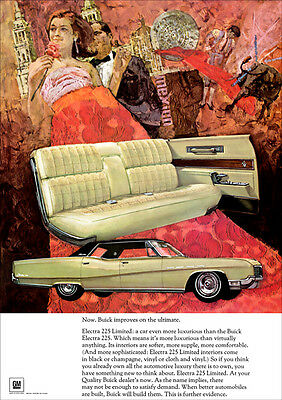 Buick Electra 225 1967 Retro A3 Poster Print From Advert 1967