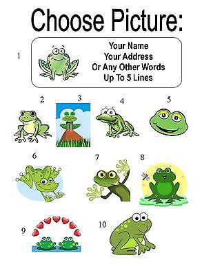 30 Cartoon Frog Personalized Address Labels