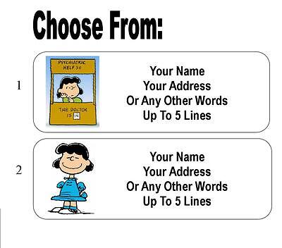30 Lucy Van Pelt ( Peanuts ) Personalized Address Labels