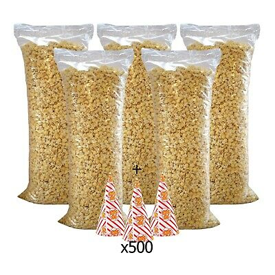 Ready Made Popcorn Deal – 5 Large Bags of Pre-Popped Corn + 500 Popcorn Cones
