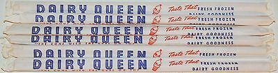 Vintage straws DAIRY QUEEN Lot of 6 in original wrappers new old stock n-mint