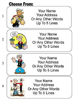 30 Popeye Personalized Address Labels