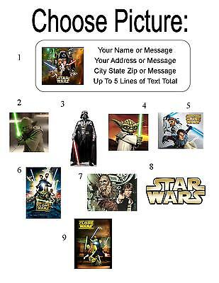 30 Star Wars Personalized Address Labels