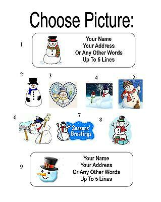 30 Snowman Personalized Address Labels