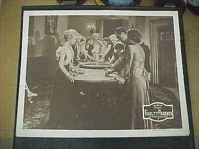 GUILTY PARENTS, orig 1934 LC (roulette wheel w/players and chips)