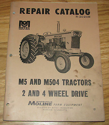 Minneapolis Moline M504 & M5 Tractor Parts Catalog Manual  Book 2WD & 4WD  mm