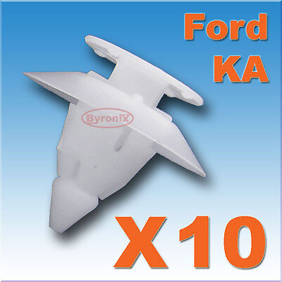 10X Ford Ka Bumper Fixing Fastener Plastic Trim Clips Front Rear