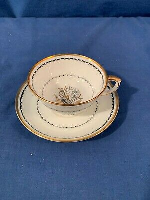 Crown Staffordshire China BLACKSTONE A 16028 Cup and + Saucer Set