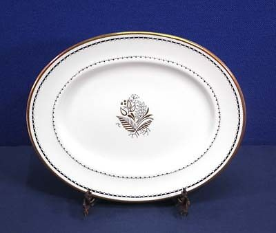 Crown Staffordshire China BLACKSTONE A 16028 Oval Serving Platter 11-1/2""