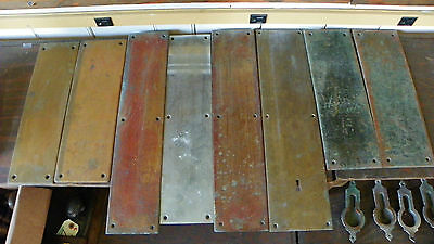 8 Brass Antique Push Plates In Various Sizes And Finishes 4810T