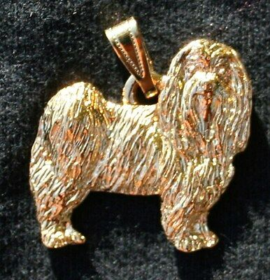 MALTESE Puppy Cut Dog 24K Gold Plated Pewter Pendant Jewelry