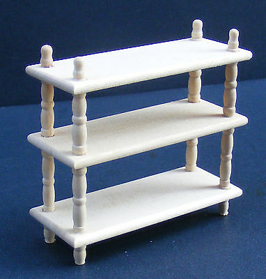 1:12 Scale Natural Finish Wood Book Shelf Unit Dolls House Miniature Kitchen 019