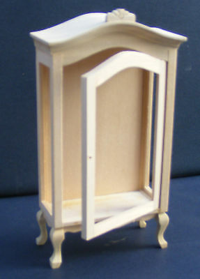 1:12 Scale Natural Finish Display Cabinet Dolls House Kitchen Hall Accessory 115