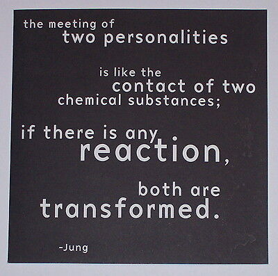 The Meeting of Two Personalities - Quotation Blank Card