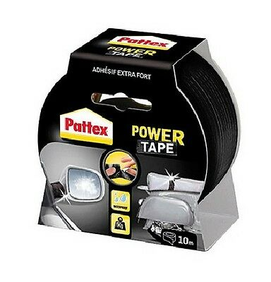 RUBAN ADHESIF EXTRA FORT NOIR 10 M POWER TAPE PATTEX resiste pression ETANCHE