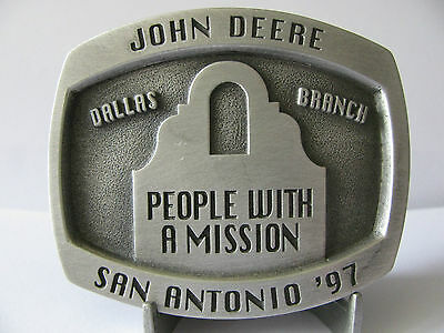 1997 John Deere San Antonio Dallas Branch Limited Edition Belt Buckle  #352/500
