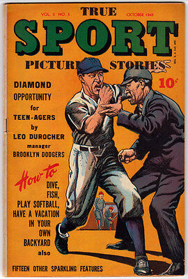 TRUE SPORT PICTURE STORIES V 3 # 3 - 10/45 F+ Babe Ruth Woman's Softball