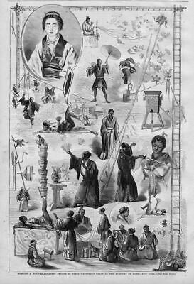 Maguire & Risley's Japanese Troupe Marvelous Feats Academy Of Music In 1867