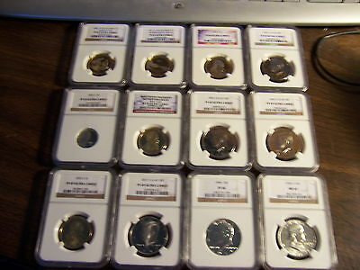 5-Ngc Graded Coins-Mixed Box -Estate Find-1 Buy=5 Slabs Randomly Pulled From Box