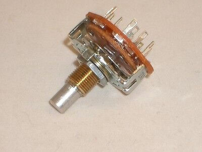 """Ced P-H395 Rotary Switch 3 Pole 3 Position Mbb Shorting 1/4"""" Shaft Vintage Radio"""