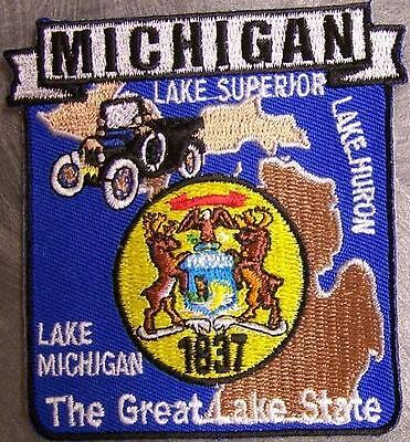 Embroidered USA State Patch Michigan NEW montage